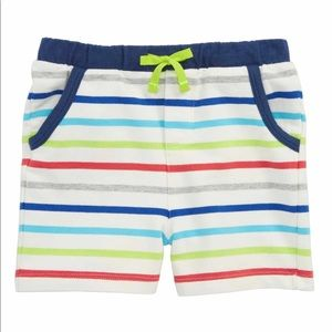 NWOT Mini Boden Fun Stripe Jersey Shorts